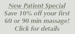 New Patient Massage Special 2017
